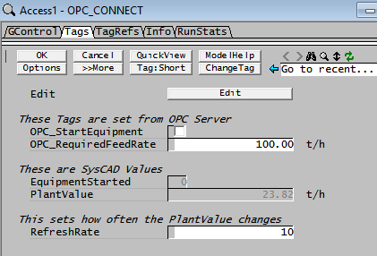 OPC Marshal Example - SysCAD Documentation