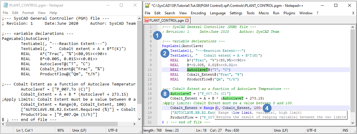 Using Notepad++ - SysCAD Documentation