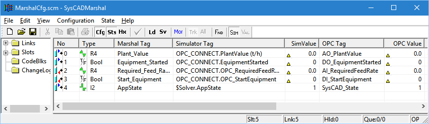 OPC Marshal Example - SysCAD Documentation